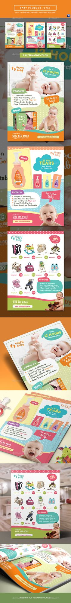Baby Product Flyer / Magazine Ad — Photoshop PSD #fashion style #fun • Available here → https://graphicriver.net/item/baby-product-flyer-magazine-ad/17853508?ref=pxcr