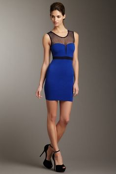 Embrace Mesh Details {Wow Couture Bandage Dress}