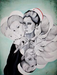 ARTWORK OF THE DAY / GÜNÜN ESERİ - Gallerymak.com Histtt! by Pınar Bora |   #pinarbora #akrilik #tablo #gallerymak #sanat #artoftheday #modernart #sanatçı #ressam #painter #painting #instaart #worldofart #arte #artsy #contemporary #contemporaryart #art #artwork #woman #oilpainting #resim #renk #color #instagood #acrylic #nurse #hemşire #quiet