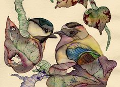 Beating of tiny hearts ~ artist Colleen Parker #art #watercolor #ink