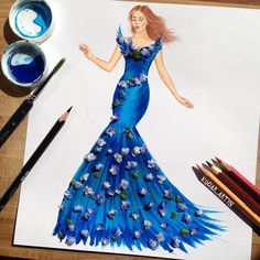 """34.9 mil Me gusta, 168 comentarios - EdgaR_ArtiS (@edgar_artis) en Instagram: """"New dress design 💙💙💙 hope you like it 😊 And wish you have a nice day guys ❤️❤️❤️.... #fashion…"""""""
