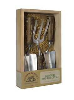 Joseph Bentley Traditional Garden Tools 3-Piece Stainless Steel Hand Tools Set - Includes Hand Trowel, Transplanting Trowel, And Hand Fork - Solid Oak Handles - Long Lasting Durability, 2015 Amazon Top Rated Tool Sets #Lawn&Patio