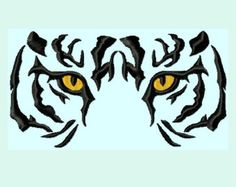 Tiger Eyes fill Embroidery Designs 6 sizes by LunaEmbroidery