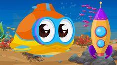 Cartoni Animati per bambini: Oscar il sottomarino e l'astronave