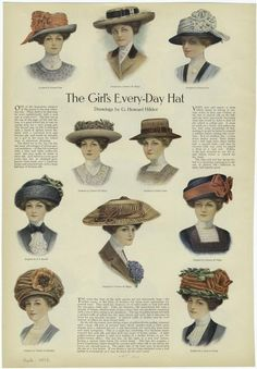 """Every-Day Hat"" From ""Ladies' Home Journal"" - Published 1910."