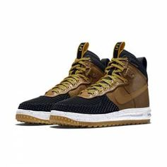 NIKE Lunar Force 1 Duckboot Noir et Marron 805899 004 - Basket Bordeaux