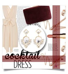 """""""Cocktail Dress"""" by chocohearts08 ❤ liked on Polyvore featuring Jeffrey Campbell, Tome, Kayu, Larkspur & Hawk, Clarins and Anja"""