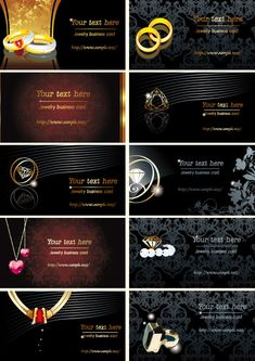 Jewelry business cards vector download
