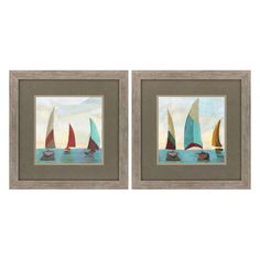 Propac Images Yellow Gallivant Framed Painting Print - Set of 2 - 3740