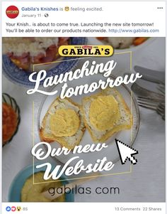 Facebook post I wrote for Gabila's Knishes, while doing copywriting for Napkin Marketing. The campaign won a 2018 Hermes Platinum award in the Social Media category. Saatchi & Saatchi, Feeling Excited, Copywriter, Napkin, Hermes, Campaign, Social Media, Marketing, Writing