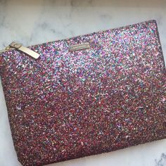 "Kate Spade Sparkler Gia Multi Color Clutch Never used...will come in original packaging! There is a small scratch on the Kate Spade Logo...it was purchased like that, but it's hardly noticeable. It measures 7.2""h x 10.1""w x 0.4""d. kate spade Bags Clutches & Wristlets"