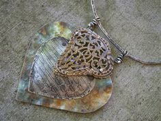 Repoussé Hearts Class Teaching this at Art Unraveled 2014 and  Art Retreat in the Desert 2015 (http://artretreatinthedesertclassdetails.blogspot.com/p/diane-cook.html)