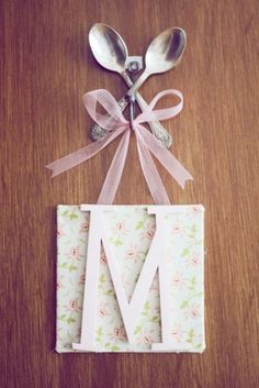 For the door to baby's nursery - such a sweet, vintage-inspired touch!
