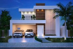 Eye-Opening Tips: Contemporary Cottage Architecture contemporary style simple. Container Home Designs, Best Modern House Design, House Front Design, 2 Story House Design, Modern House Facades, Modern House Plans, Facade Design, Exterior Design, Two Storey House Plans