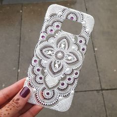Love how my nail Polish matches the rhinestones in this phone case   For phone case orders please direct message me!