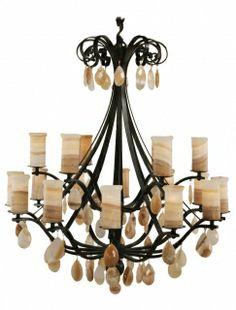 Light elegant chandelier