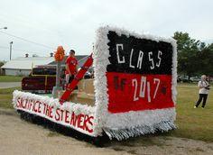 "Homecoming float: Class of 2017 freshmen (Theme: Around the World; slogan ""Sacrifice the Steamers"")"