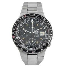 LOT:387 | TAG HEUER - a gentleman's stainless steel Pilot chronograph bracelet watch.