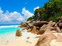 Granite White Sand Beach La Digue