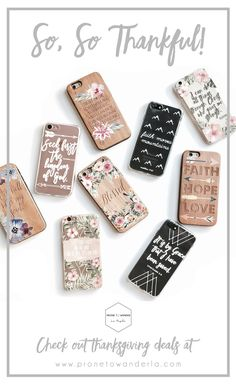 Celebrate Thanksgiving, Black Friday, and Cyber Monday in style with these gorgeous phone cases from Prone to Wander LA! Our products are full of inspiring messages, and they are perfect for Christmas Presents! Show the ones you love what you mean to them with Prone to Wander phone cases!