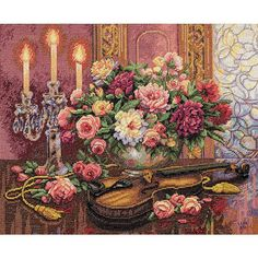Dimensions Gold Collection Counted Cross Stitch Kit, Romantic Floral, 14 Count Beige Aida, x Cross Stitching, Cross Stitch Embroidery, Embroidery Patterns, Hand Embroidery, Stitch Patterns, Dimensions Cross Stitch, Cross Stitch Pictures, Counted Cross Stitch Kits, Joanns Fabric And Crafts