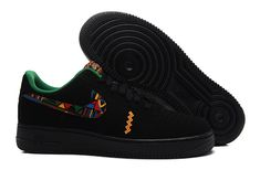 Men's Nike Air Force 1 Yeezy Low Black Laser Crimson Arctic Green 488298 048 Boys Casual Shoes Sneakers 488298 048