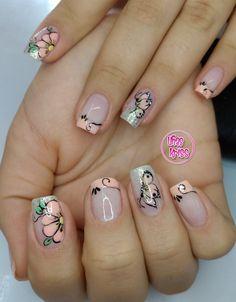 Nail Designs, Nails, Beauty, Designed Nails, Butterfly Nail Art, Nail Manicure, Neutral Nails, Hand Designs, Finger Nails