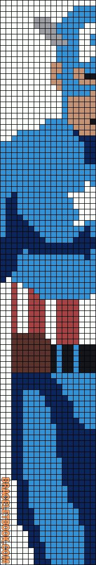 Captain America Friendship Bracelet Pattern #7996 - BraceletBook.com