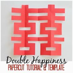 Marie's Pastiche: Chinese Paper Cutting {With Tutorial & Template} - Chinese New Year - Chinese New Year Crafts For Kids, Chinese Arts And Crafts, Chinese New Year Activities, Asian Crafts, Chinese New Year Decorations, New Years Activities, Multicultural Activities, New Year's Crafts, Family Crafts
