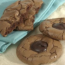 I made these once they were delicious, like brownies in cookie form.  I really want to make these right now.  Who wants some?