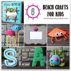 Beach Crafts for Kids #beachcrafts #kidscrafts #shellcrafts #styrofoamcrafts