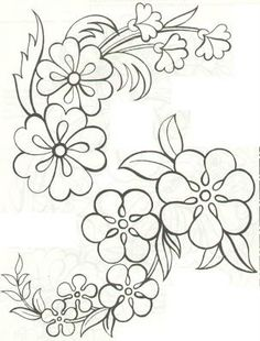 Grand Sewing Embroidery Designs At Home Ideas. Beauteous Finished Sewing Embroidery Designs At Home Ideas. Hand Embroidery Patterns, Applique Patterns, Ribbon Embroidery, Craft Patterns, Beading Patterns, Flower Patterns, Flower Designs, Embroidery Stitches, Machine Embroidery