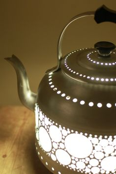 This is my new kettle. I can't believe I actually own it. It's made by Gilles Eichenbaum and it makes me SMILE