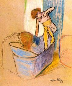 Le bain, 1908, musée de Grenoble. Suzanne #Valadon  - #Painting #Peinture