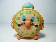 Vintage Squeaky Rubber Clock Toy 1960s by FlyingSpoon on Etsy