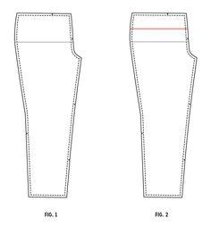 Torso Adjustment for Pants/Jeans Pattern