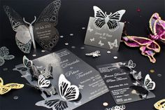 All a Flutter metal wedding stationery #wedding #butterfly #stationery
