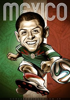 Brasil 2014 Caricatures posters by Gonza Rodriguez, via Behance