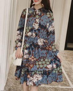 CW74029 Printing maternity clothing Korean style dress