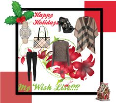 """""""A Very Merry Burberry Christmas!"""" by emhodges01 ❤ liked on Polyvore"""