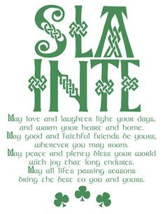 M double M: An Irish blessing (printable). May love and laughter light your days… – TOP 15 St Patrick's Day Quotes Irish Birthday Blessing, Irish Blessing, Birthday Blessings, The Words, Irish Prayer, Irish Toasts, Irish Quotes, Irish Sayings, Irish Proverbs