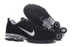 677b84975ee5 Nike Air Shox Flyknit Black Silver Shox R4 Men s Athletic Running Shoes  Nike Shox