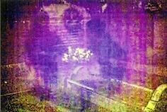 South Carolina Ghost : photographed by Mike Smith in Oakwood cemetery Spartanburg SC .