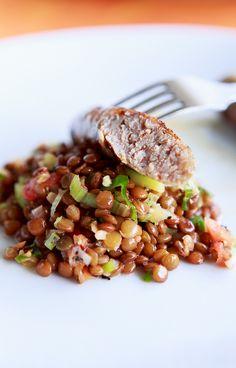 Salsicce vom Grill mit Linsen-Salat www.highfoodality.com