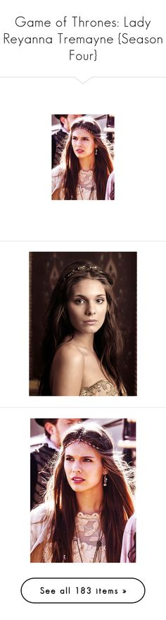 """""""Game of Thrones: Lady Reyanna Tremayne {Season Four}"""" by grandmasfood ❤ liked on Polyvore featuring reign, people, accessories, hair accessories, crowns, tiara, crown tiara, tiara crown, jewelry and circle"""