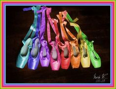 Rainbow Ballet Shoes, I want the mint colored ones!