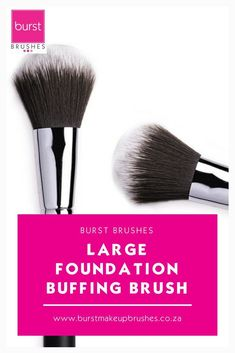 "Use this brush in fast circular movements to ""air-whip"" the foundation onto the skin, or buff any foundation into a velvety finish after application. Beauty Brushes, Eye Makeup Brushes, How To Clean Makeup Brushes, How To Apply Makeup, Makeup Brush Hacks, Makeup Brush Set, Bronzing Brush, Indian Makeup And Beauty Blog, Homemade Blush"