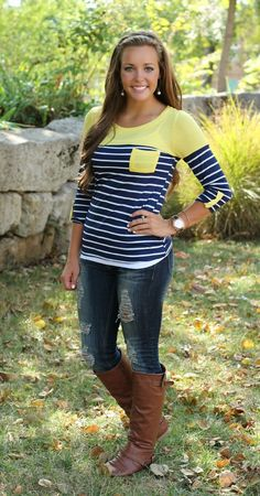 The Pink Lily Boutique - Fall Fun 3/4 Sleeve Pocket Blouse, $28.00 (http://www.thepinklilyboutique.com/fall-fun-3-4-sleeve-pocket-blouse/)