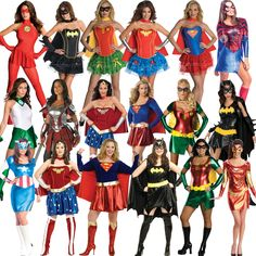 Licensed Adult Ladies Sexy Superhero New Fancy Dress Costume Superheroes  Movie