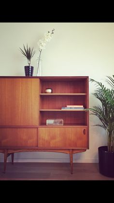 Lovely Mid-century Modern Highboard | Oswald Vermaercke | 1959 | Follow me on instagram @puurfurniture #midcentury #midcenturymodern #belgiandesign #highend #forsale #teak #highboard #vintage #interiordesign #furniture #potd #follow #me